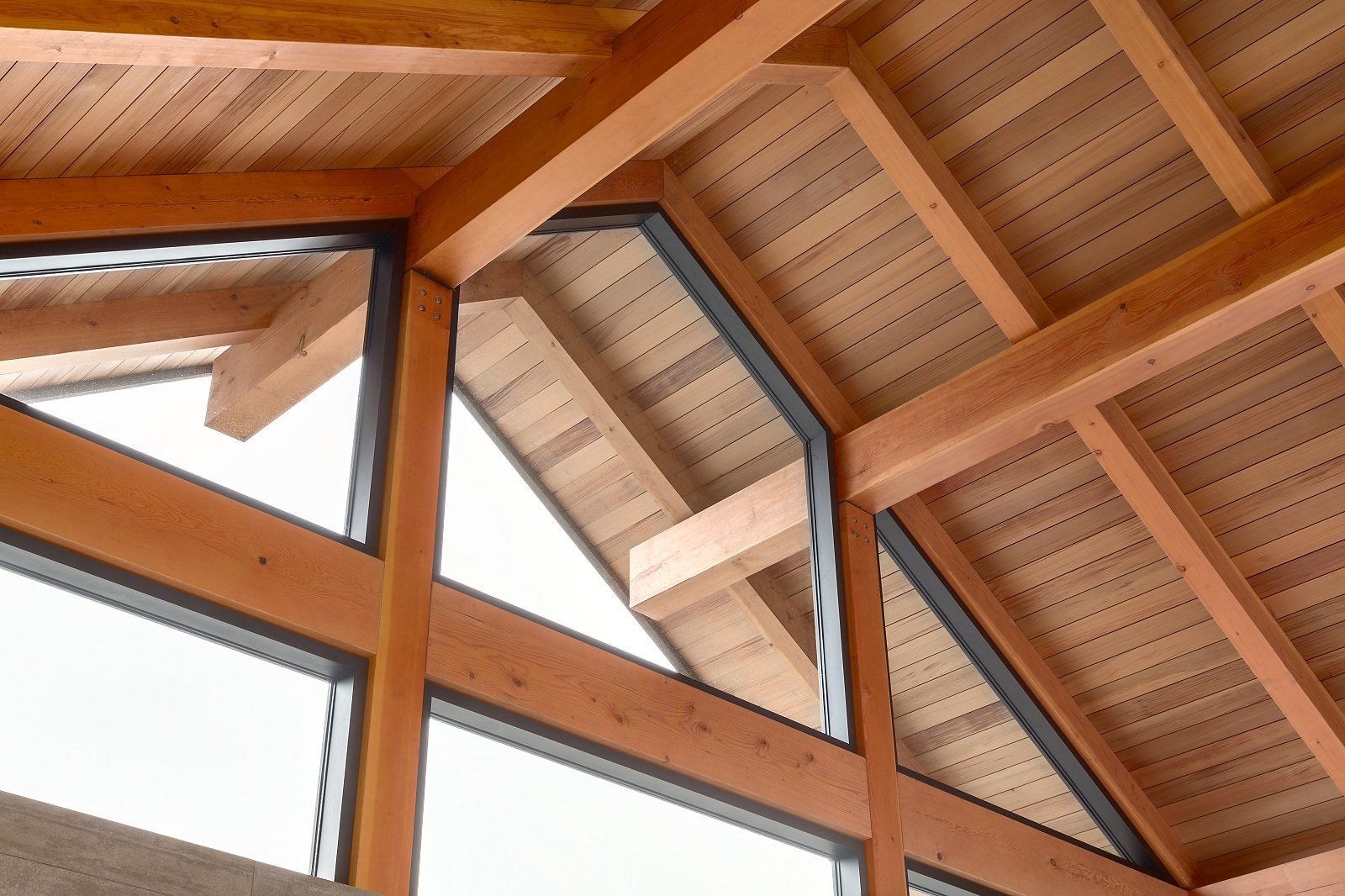 Whistler Custom Home by Coast Construction. Ceiling of Roslyn Boulevard Home.