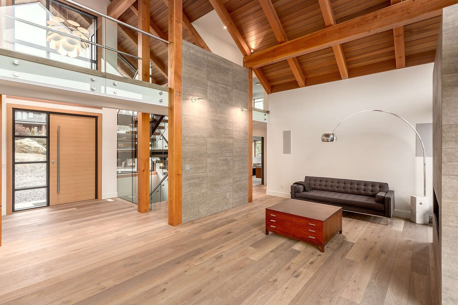 Whistler Custom Home by Coast Construction. Living room of Roslyn Boulevard Home.