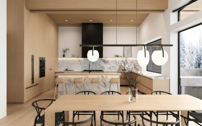 Whistler Custom Home by Coast Construction. Kitchen of Treetop Lane.