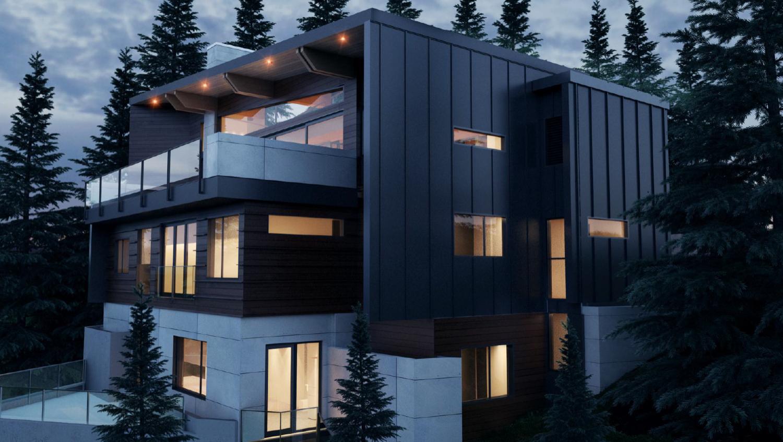 Whistler Custom Home by Coast Constructio of treetop lane.